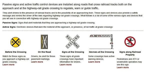 Highway-Rail Grade Crossing Safety | Trains In The Valley